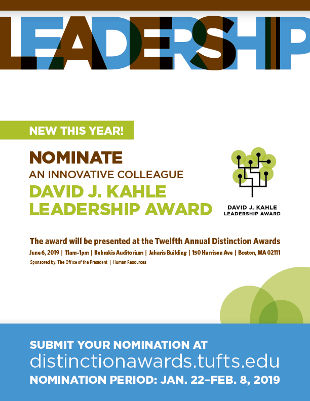 David J. Kahl leadership award. Nominate an innovative colleague.